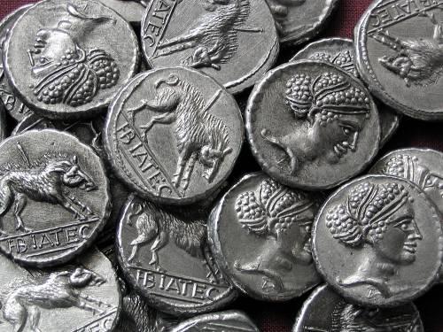 Statér cín | Keltové (1. stol. př. Kr.) střední Evropa | replika mince