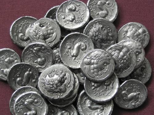Drachma cín | Keltové (3.-2. stol. př. Kr.) Podunají | replika mince