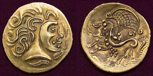 Statér zlato 999 | Parisiové (3.-2. stol. př. Kr.) Galie | replika mince