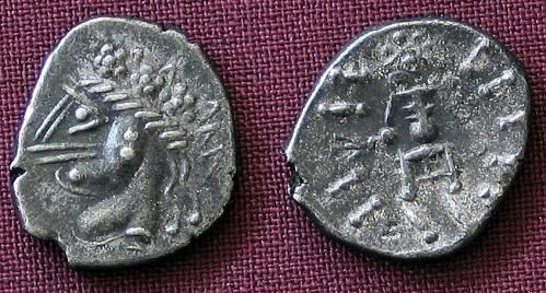Hemidrachma stříbro 999 | Keltové (3.-2. stol. př. Kr.) Podunají | replika mince