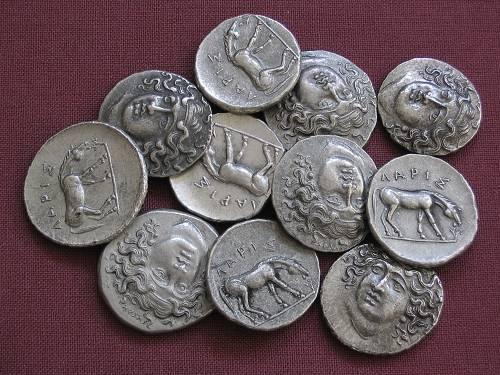 Drachma cín | Larissa (350-325 př. Kr.) Řecko | replika mince