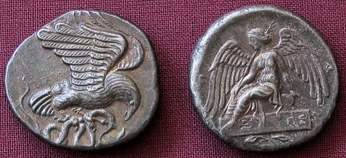 Statér stříbro 999 | Olympia (452-432 př. Kr.) Řecko | replika mince