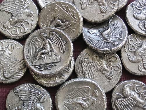 Statér cín | Olympia (452-432 př. Kr.) Řecko | replika mince