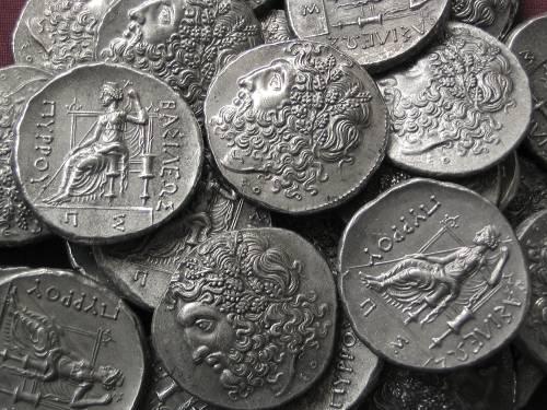 Tetradrachma cín | Pyrrhos (295-272 př. Kr.) Řecko | replika mince