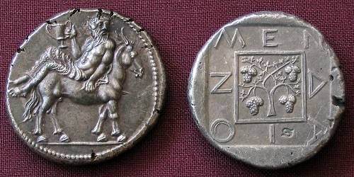Tetradrachma stříbro 999 | Mende (465-424 př. Kr.) Řecko | replika mince