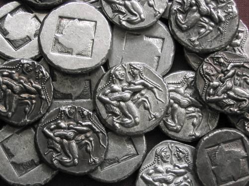 Statér cín | Thasos (510-490 př. Kr.) Řecko | replika mince