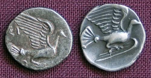 Obol stříbro 999 | Sykion (430-390 př. Kr.) Řecko | replika mince