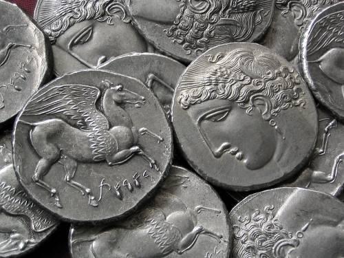 Dekadrachma cín | Punové na Sicilíi (270-260 př. Kr.) Řecko | replika mince