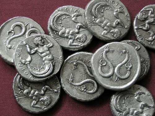 Statér cín | Itanos (375-350 př. Kr.) Řecko | replika mince