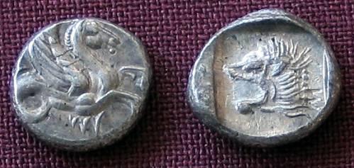 Obol stříbro 999 | Mysie (5. stol. př. Kr.) Řecko | replika mince