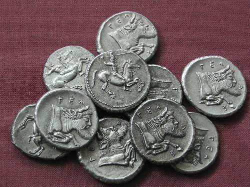 Didrachma cín | Gela (465-450 př. Kr.) Řecko | replika mince