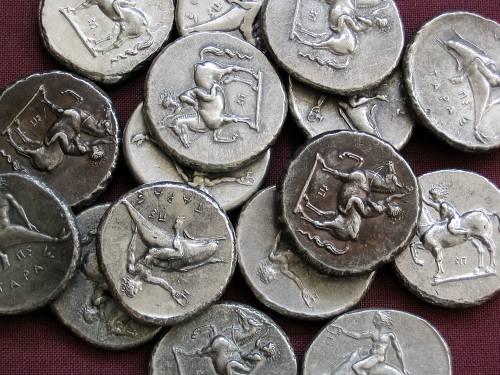 Didrachma cín | Tarent (380-345 př. Kr.) Řecko | replika mince