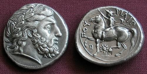 Tetradrachma stříbro 999 | Filip II. (359-336 př. Kr.) Řecko | replika mince