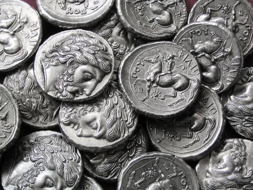 Tetradrachma cín | Filip II. (359-336 př. Kr.) Řecko | replika mince