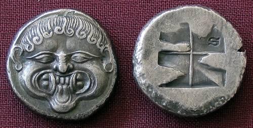 Statér stříbro 999 | Neapolis (510-480 př. Kr.) Řecko | replika mince