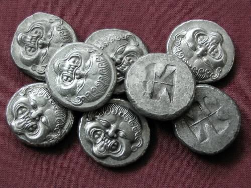 Statér cín | Neapolis (510-480 př. Kr.) Řecko | replika mince