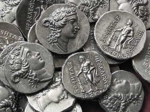Tetradrachma cín | Thasos (asi 148 př. Kr.) Řecko | replika mince
