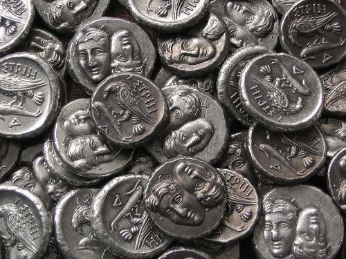 Statér cín | Istros (400-320 př. Kr.) Řecko | replika mince