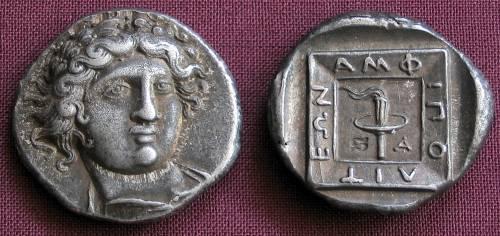 Tetradrachma stříbro 999 | Amfipolis (410-357 př. Kr.) Řecko | replika mince