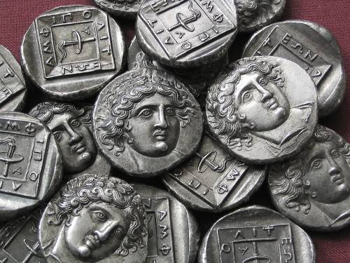 Tetradrachma cín | Amfipolis (410-357 př. Kr.) Řecko | replika mince