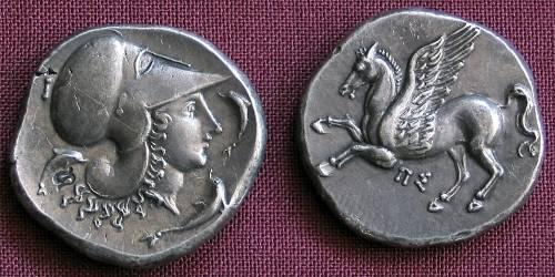 Statér stříbro 999 | Korint (400-350 př. Kr.) Řecko | replika mince