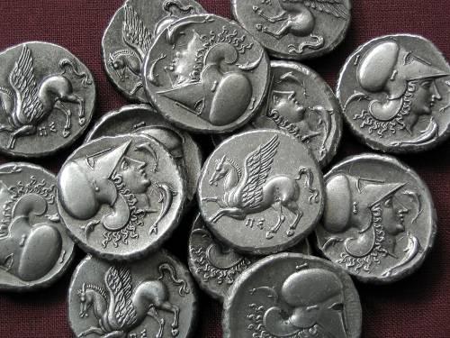 Statér cín | Korint (400-350 př. Kr.) Řecko | replika mince
