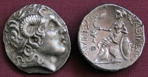 Tetradrachma stříbro 999 | Lysimachos (297-281 př. Kr.) Řecko | replika mince