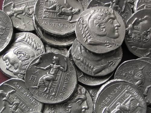 Tetradrachma cín | Alexandr Veliký (posmrtná ražba) Řecko | replika mince