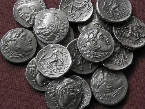 Drachma cín | Alexandr Veliký (posmrtná ražba) Řecko | replika mince