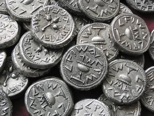 Šekel cín | 1. židovské povstání (66-70 po Kr.) Judea | replika mince