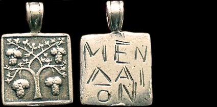 Přívěsek stříbro 925 | Keř viné révy (5. stol. př. Kr.) Řecko | replika