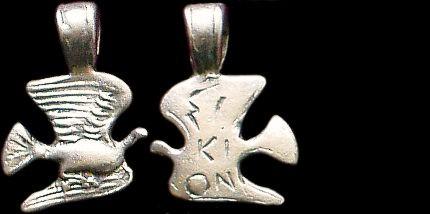 Přívěsek stříbro 925 | Holubice (5. stol. př. Kr.) Řecko | replika