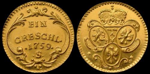 Grešle, Grešlička zlato 999 | Marie Terezie (2010) Limitované vydání 300 ks | replika mince
