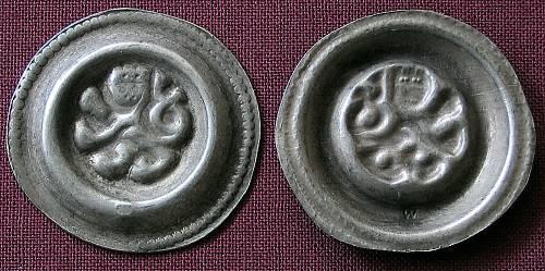 Brakteát stříbro 999 | Přemysl Otakar II. (1253-1278) Čechy | replika mince