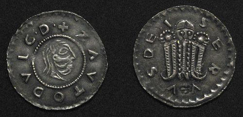 Denár stříbro 999 | Svatopluk (1065-1107) Morava – Olomoucké knížectví | replika mince