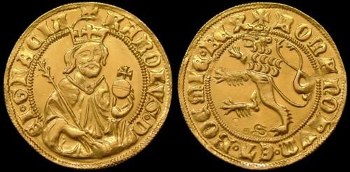 Dukát zlato 999 | Karel IV. (1346-1378) Čechy | replika mince