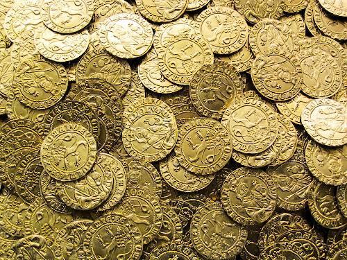 Dukát mosaz | Karel IV. (1346-1378) Čechy | replika mince
