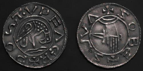 Denár stříbro 999 | Soběslav Slavníkovec (981-995) Čechy | replika mince