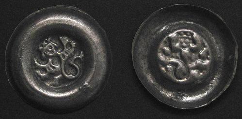 Brakteát stříbro 999 | Václav II. (1300-1305) Čechy | replika mince