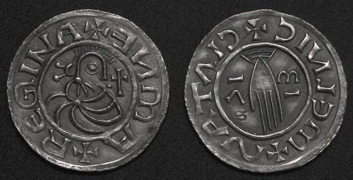 Denár stříbro 999 | Emma Regina (+1006) Čechy | replika mince