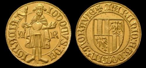 Dukát zlato 999 | Jošt Lucemburský (1375-1411) Morava – Brno | replika mince
