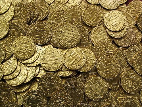 Dukát mosaz | Jošt Lucemburský (1375-1411) Morava – Brno | replika mince