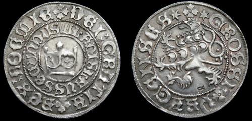 Pražský groš stříbro 999 | Vladislav II. Jagellonský (1471-1516) Čechy | replika mince