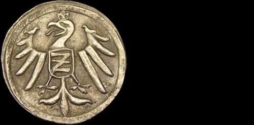 Kruhový peníz stříbro 999 | městská ražba (2. pol. 15. stol.) Morava - Znojmo | replika mince