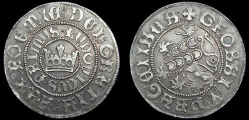 Pražský groš stříbro 999 | Ludvík Jagellonský (1516-1526) Čechy | replika mince