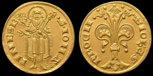 Florén zlato 999 | Jan Lucemburský (1310-1346) Čechy | replika mince