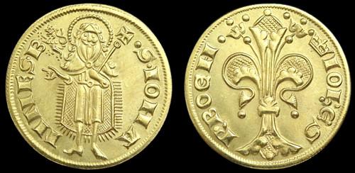Florén mosaz | Jan Lucemburský (1310-1346) Čechy | replika mince