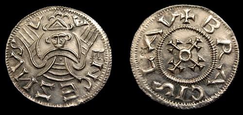 Denár stříbro 999 | Břetislav I. (1034-1055) Čechy | replika mince