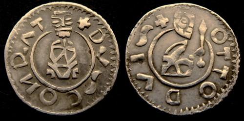 Denár stříbro 999 | Konrád I. a Ota I. (1055-1061) Morava – Brno | replika mince