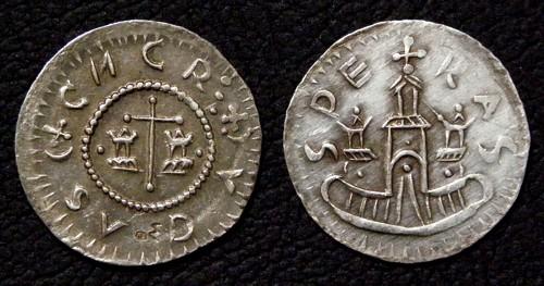 Denár stříbro 999 | Konrád I. (1061-1092) Morava – Brno | replika mince